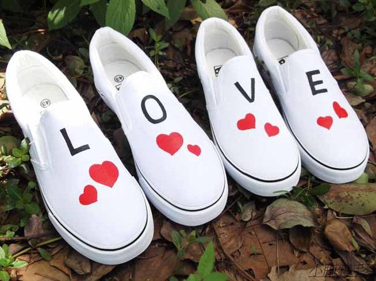 情侣手绘鞋图片大全