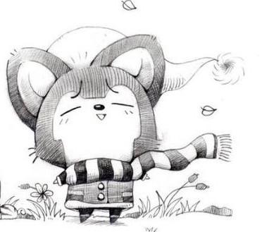 阿狸彩铅手绘图