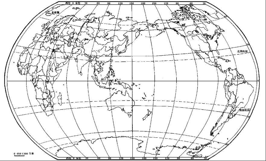 空白中国,世界地图